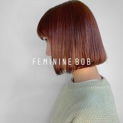 ボブ ナチュラル デザインカラー ミニボブ ヘアスタイルや髪型の写真・画像