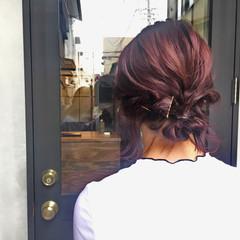 ピンク ガーリー デート 大人女子 ヘアスタイルや髪型の写真・画像