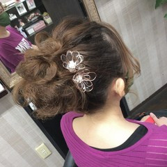 ヘアアレンジ ヘアアクセサリー ヘアアクセ ふわふわヘアアレンジ ヘアスタイルや髪型の写真・画像