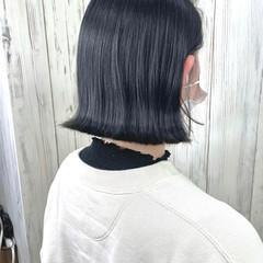 グレージュ ボブ トレンド ラベンダーアッシュ ヘアスタイルや髪型の写真・画像