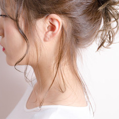 シースルーバング 透明感 ミディアム ヘアアレンジ ヘアスタイルや髪型の写真・画像