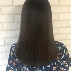 ナチュラル トリートメント 縮毛矯正 艶髪 ヘアスタイルや髪型の写真・画像