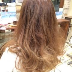 外国人風カラー グラデーションカラー 透明感 ロング ヘアスタイルや髪型の写真・画像