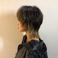 モード ウルフカット ショート オシャレ ヘアスタイルや髪型の写真・画像