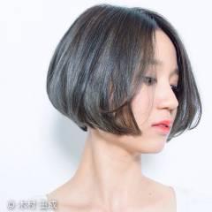 大人かわいい モード グラデーションカラー ボブ ヘアスタイルや髪型の写真・画像