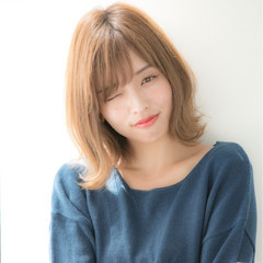 ミディアム ひし形 美シルエット デート ヘアスタイルや髪型の写真・画像