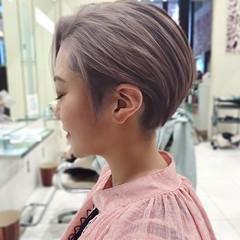 ショートボブ ミニボブ ナチュラル ショートヘア ヘアスタイルや髪型の写真・画像