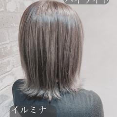 大人ハイライト 3Dハイライト ハイライト エレガント ヘアスタイルや髪型の写真・画像
