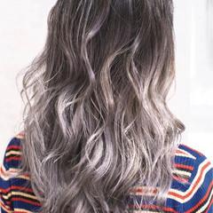 ダブルカラー 外国人風カラー ガーリー セミロング ヘアスタイルや髪型の写真・画像