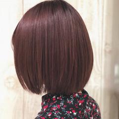 フェミニン ピンク ラベンダーピンク 春 ヘアスタイルや髪型の写真・画像