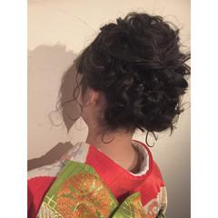 着物 成人式 ラフ ボブ ヘアスタイルや髪型の写真・画像