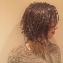 冬 ボブ ナチュラル 色気 ヘアスタイルや髪型の写真・画像