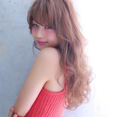 おフェロ ロング フェミニン 大人かわいい ヘアスタイルや髪型の写真・画像