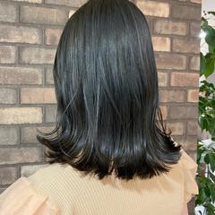 ブルーアッシュ N.オイル 艶髪 外ハネボブ ヘアスタイルや髪型の写真・画像