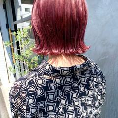 ピンクベージュ ラベンダーピンク ストリート ピンクアッシュ ヘアスタイルや髪型の写真・画像