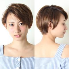 ナチュラル ショート 外国人風 アッシュ ヘアスタイルや髪型の写真・画像