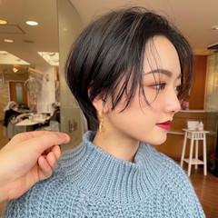 ショートヘア フェミニン ショート ショートボブ ヘアスタイルや髪型の写真・画像