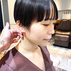 黒髪ショート モード ショートボブ マッシュショート ヘアスタイルや髪型の写真・画像