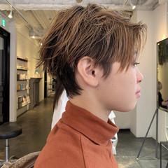 アウトドア ナチュラル ショート レイヤーショート ヘアスタイルや髪型の写真・画像