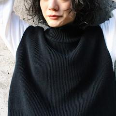 外国人風 無造作パーマ ワンカールパーマ ショートボブ ヘアスタイルや髪型の写真・画像