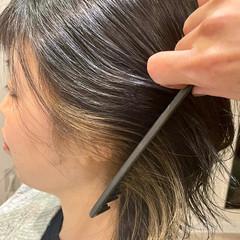 ウルフカット 大人可愛い ナチュラル 暗髪女子 ヘアスタイルや髪型の写真・画像
