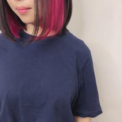 インナーカラー ヘアカラー 外国人風カラー 透明感カラー ヘアスタイルや髪型の写真・画像