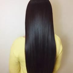 フェミニン ロング パープル 艶髪 ヘアスタイルや髪型の写真・画像