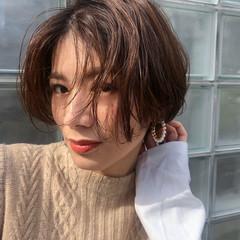 ナチュラル ショートボブ 透明感 ショートヘア ヘアスタイルや髪型の写真・画像