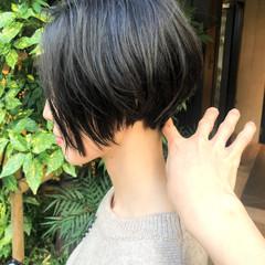 ナチュラル ショートボブ ショート ミニボブ ヘアスタイルや髪型の写真・画像