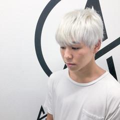 ショート ブリーチオンカラー ホワイトブリーチ ブリーチ ヘアスタイルや髪型の写真・画像