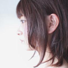 ピンク セミロング グレージュ ラベンダー ヘアスタイルや髪型の写真・画像