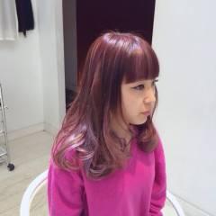 ピンク ストリート 愛され モテ髪 ヘアスタイルや髪型の写真・画像