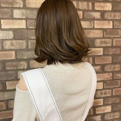 透明感 ボブ アディクシーカラー ナチュラル ヘアスタイルや髪型の写真・画像