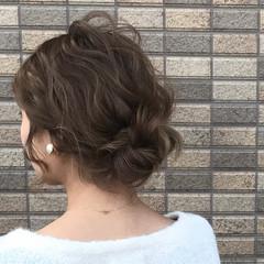 小顔 ヘアアレンジ ハイライト フェミニン ヘアスタイルや髪型の写真・画像