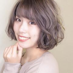 ブリーチカラー ガーリー ひし形シルエット ブリーチ ヘアスタイルや髪型の写真・画像