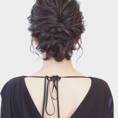 フェミニン 編み込み ボブ ツイスト ヘアスタイルや髪型の写真・画像