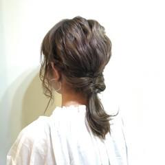 ハーフアップ ショート 夏 ミディアム ヘアスタイルや髪型の写真・画像