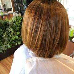 縮毛矯正 ショートボブ ナチュラル ボブ ヘアスタイルや髪型の写真・画像