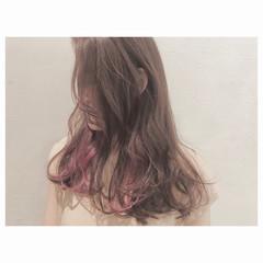 かき上げ前髪 ストリート アンニュイ ロング ヘアスタイルや髪型の写真・画像