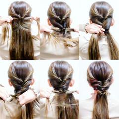くるりんぱ セルフヘアアレンジ ロング ショート ヘアスタイルや髪型の写真・画像