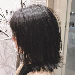ロブ ナチュラル ショート ボブ ヘアスタイルや髪型の写真・画像