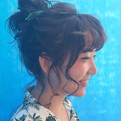 フェミニン 色気 リラックス かわいい ヘアスタイルや髪型の写真・画像