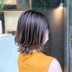 グラデーションカラー ウルフカット 大人ハイライト バレイヤージュ ヘアスタイルや髪型の写真・画像
