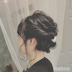 パーティ ヘアアレンジ 結婚式 黒髪 ヘアスタイルや髪型の写真・画像