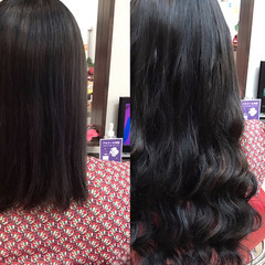 ウェーブ ロング 大人女子 エクステ ヘアスタイルや髪型の写真・画像