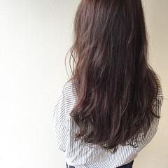 暗髪 透明感 ロング ナチュラル ヘアスタイルや髪型の写真・画像