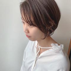 透明感カラー ハイライト ハンサムショート ショート ヘアスタイルや髪型の写真・画像