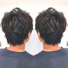 ボーイッシュ ショート 黒髪 ナチュラル ヘアスタイルや髪型の写真・画像