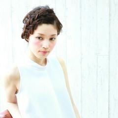 大人かわいい セミロング パーティ ヘアアレンジ ヘアスタイルや髪型の写真・画像