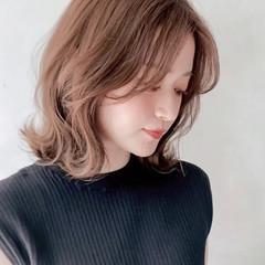 デジタルパーマ アンニュイほつれヘア ミディアム デート ヘアスタイルや髪型の写真・画像